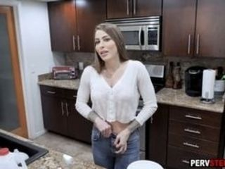 Wild cougar step-mom with massive globes Brianna Rose did everything for her ultra-kinky messy son-in-law so she dropped down on knees after he asked