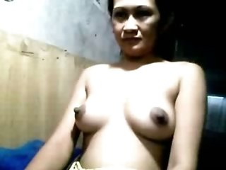 Amazing big tits with chocolate nipples from mature Filipina