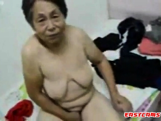 Chinese grannie get clad after hump