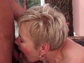 Busty granny loves a boy
