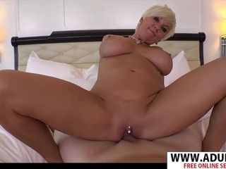New mom In Law Maggie rails monstrous penis