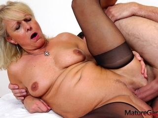Ultra-cutie And exciting Czech ash-blonde Hair woman grandma deep-throating manhood
