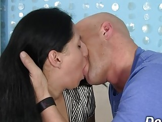 Plain Housewife Nadia Blu Gets a rock-hard porking in Her gullet and muff