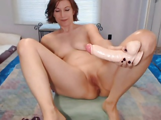 12 Inch Dildo all in Ass + Deepthroat