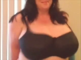 Insanely big pink boobies of my stunning milf wife
