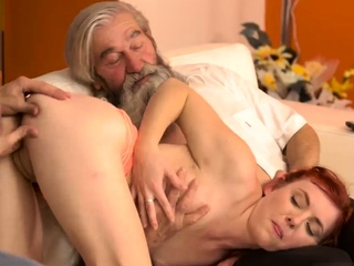 Bride and dad in law frisky light-haired unclothes sudden pra