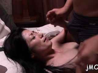 Fetching japanese silly Chisayo Nanami gets toughly jammed