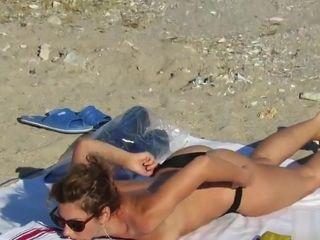 Real inexperienced phat hooters bare-breasted mummies closeup hidden cam Beach