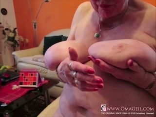 OmaGeiL Real grandmother saucy vagina close-up flick