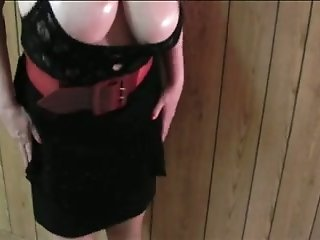 Enormous natural boobies of my cougar white wife on cam