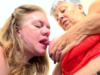 OldNannY 2 Mature honies girl-girl gobbling joy