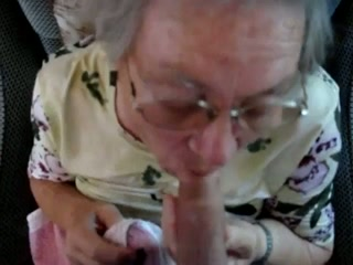 Short-haired granny demonstrates her blowjob skills in POV clip