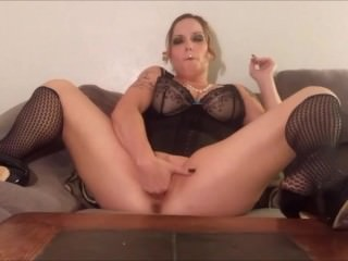 Blunt Smoking Dildo Masturbation