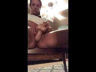 Cougar using fake penis