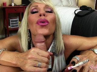 Stepmom smoking bj