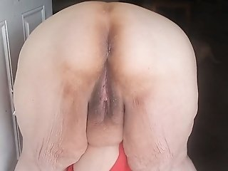 Solo video with my obese elderly spouse exposing her cunt