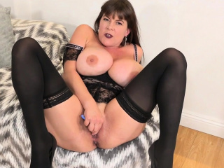 Big-chested and yankee cougar Rebecca enjoy stashes fuck stick in underpants