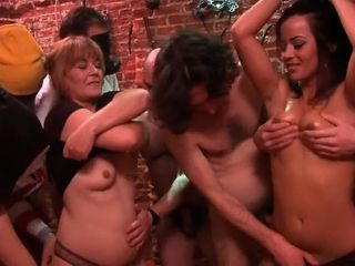Mass ejaculation mommy and daughter-in-law gang-fuck