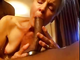 Wife sucks HUGE BBC, hubby films
