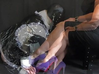 Female dominance domme predominates Her Sissy French Maid