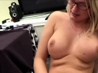 German inexperienced phat boobies ash-blonde mother with glasses