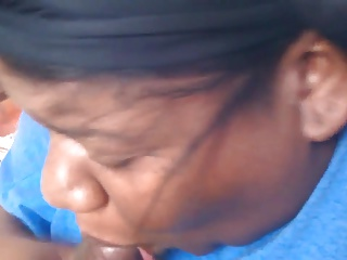 BBW BLACK WIFE SUCKS SMALL BLACK DICK