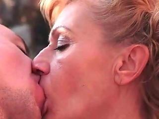 Hot granny making love with her young boyfriend