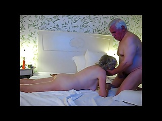 Grandpa cums twice in her mouth