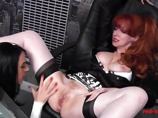 Sloppy cougar tart crimson pulls a highly buxomy black-haicrimson for romp